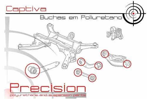 Captiva - Kit Buchas Traseiro Completo Em Poliuretano - Precision Suspension Parts