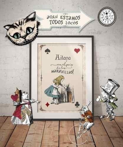 Kit Imprimible Alicia En El País De La Maravillas - Vintage