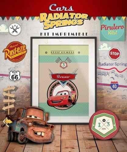 Kit Imprimible Cars Disney - Radiator Springs - Cumpleaños