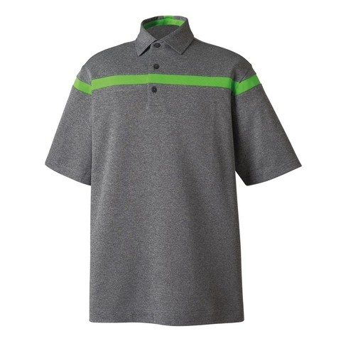Chomba  Footjoy Smooth Pique Stripe Self Collar
