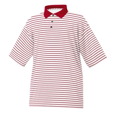 Chomba Footjoy Lisle Stripe Knit Collar