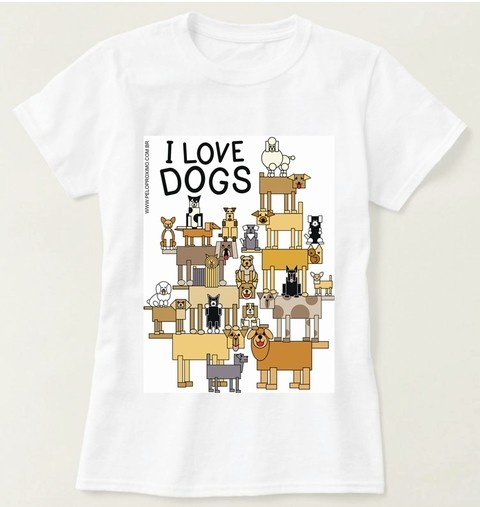 Camiseta I Love Dogs