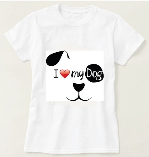 Camiseta I Love My Dog