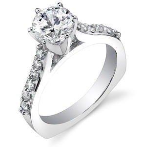 f13b2d05cfd Anel Solitário em Ouro branco 18K com Diamantes (1