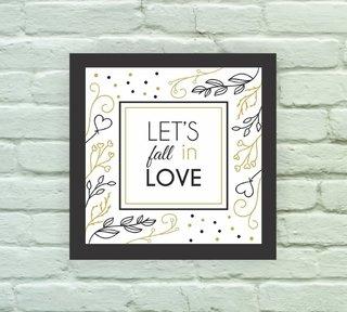 daa98673a ... Quadro Decorativo Fall in Love - comprar online ...