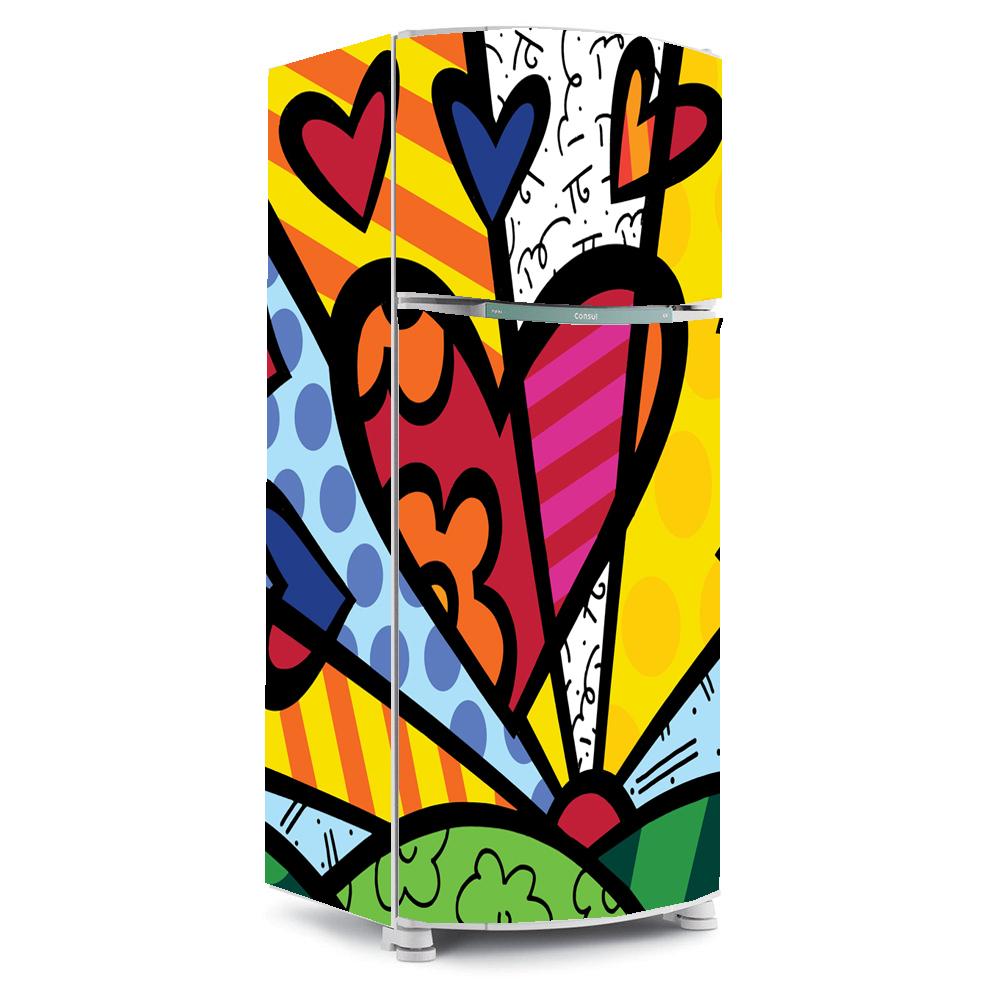 Artesanato Em Sorocaba ~ adesivo para envelopamento de geladeira romero brito