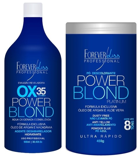 Forever Liss Power Blond - Kit Descoloração
