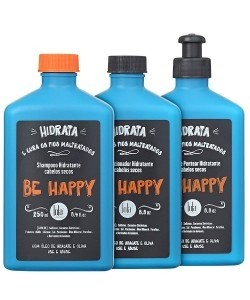 LOLA COSMETICS - BE HAPPY KIT SHAMPOO CONDICIONADOR CREME DE PENTEAR 250ML CADA