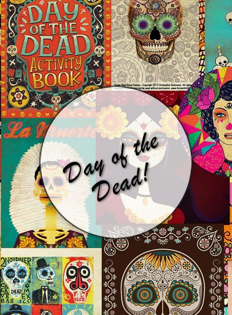 Day of the Dead ! Lámina Decoupage Autoadhesiva  30 X 42 cm
