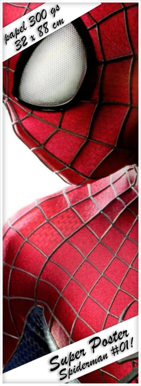 Spiderman #01! Super Poster 32 x 88 cm - Papel Ilustración 300 gs.