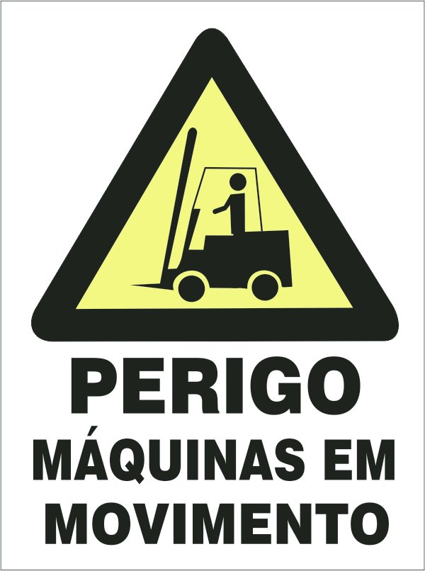 92191d3c56b Placa de Perigo Maquinas Em Movimento - Placasshop