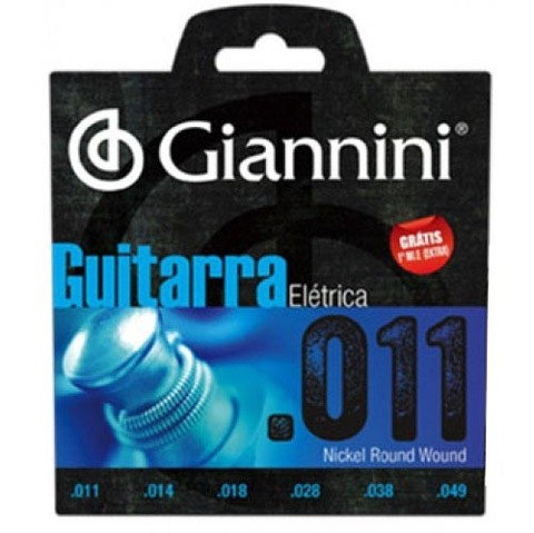 Encordoamento Giannini GEEGST11 P/ Guitarra .011 - EC0035