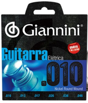 Encordoamento Giannini GEEGST10 P/ Guitarra .010-.046 - EC0092