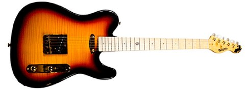 Guitarra Dolphin Telecaster Rocket Sunburst Flamed - GT0269