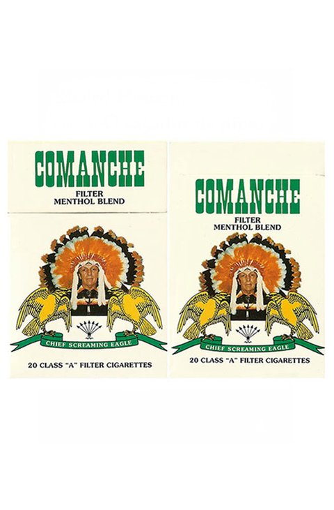 BOX COMANCHE FILTER MENTHOL BLEND BLENDED TOBACCO PARAGUAY