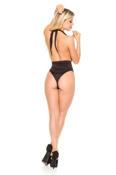 Body Escote Marylin Negro de lycra Opaca