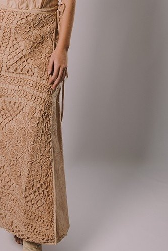 SKIRT FILET LACE NATURALLY - buy online