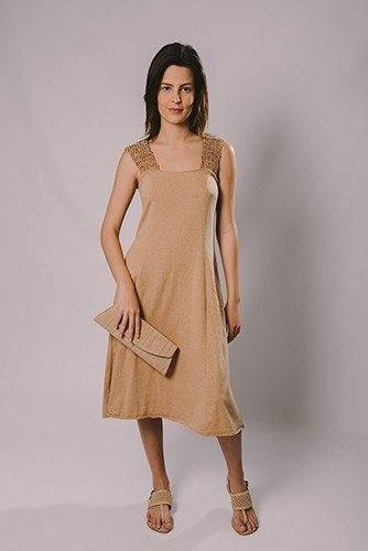 NET FISHING SHOULDER DRESS