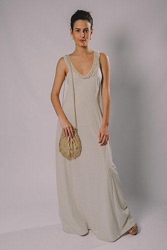 NET FISHING TOP LONG DRESS