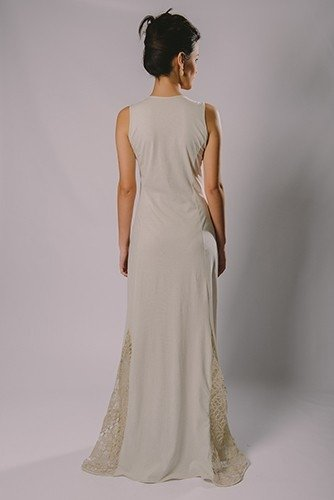FILET LACE LONG DRESS on internet