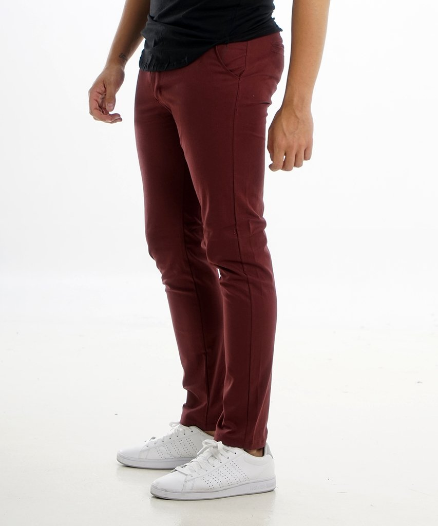 Pantalon CHINO Bordo