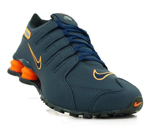 57d3dfd855 ... uk tênis nike shox nz azul marinho e laranja 87a2e 033eb
