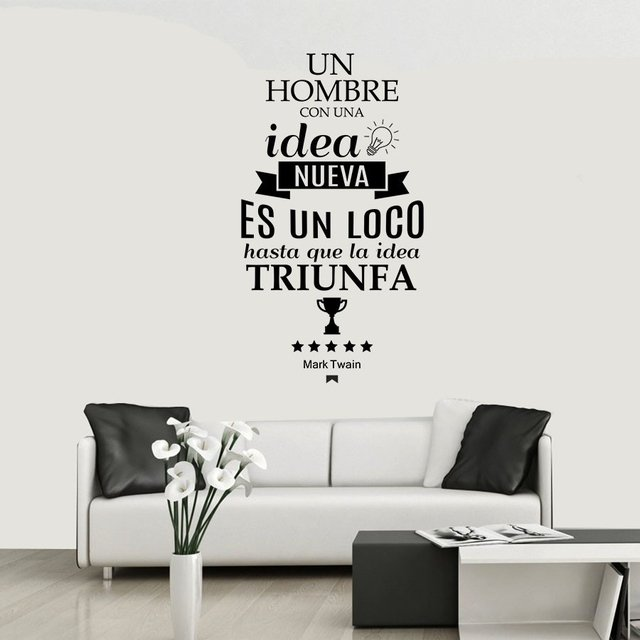 FRASE IDEA - VINILO DECORATIVO PARED