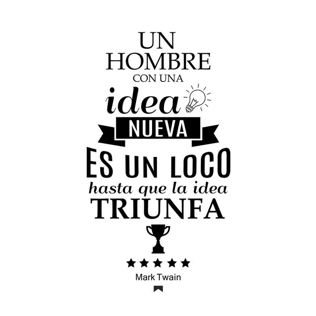 FRASE IDEA - VINILO DECORATIVO PARED - comprar online