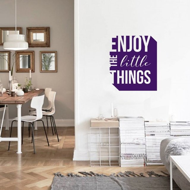 FRASE CUADRADO ENJOY - VINILO DECORATIVO PARED