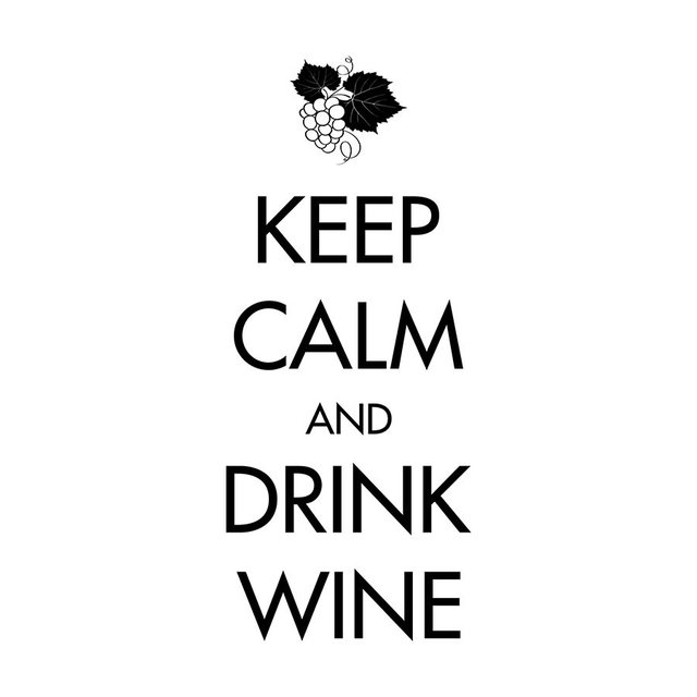 KEEP CALM AND DRINK WINE - VINILO PARED - comprar online