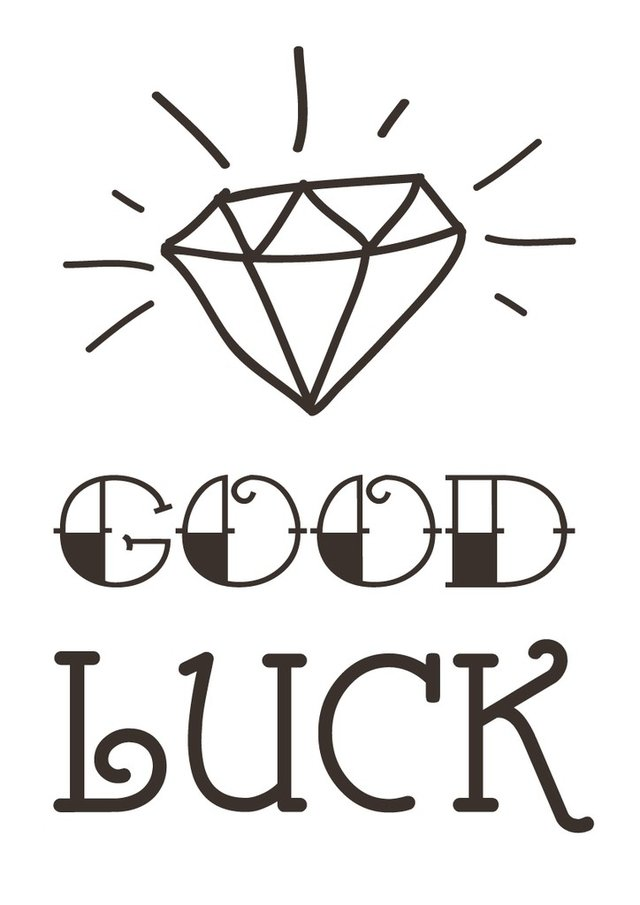 FRASE GOOD LUCK - VINILO DECORATIVO - comprar online