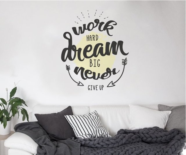 FRASE WORK DREAM - VINILO DECORATIVO
