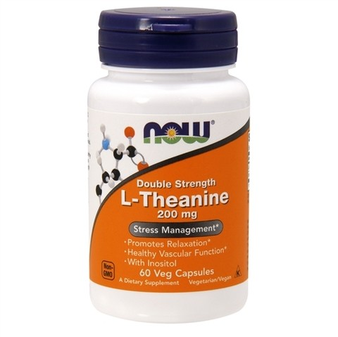 NOW FOODS L-THEANINE 200MG | 60 CAPSULES