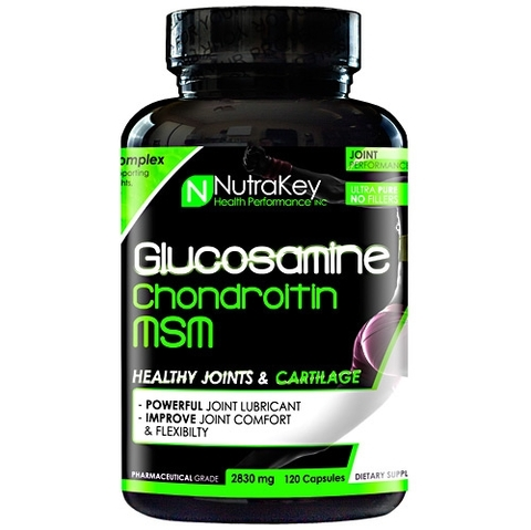 GLUCOSAMINE & CHONDROITIN MSM 120 CAPSULES | NUTRAKEY (PAGUE 1 LEVE 2)