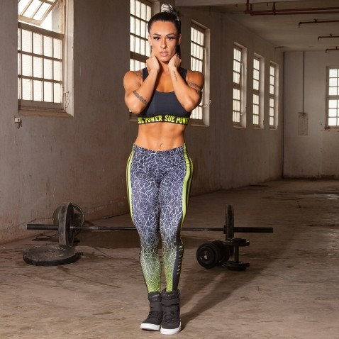LEGGING FITNESS DIGITAL WAVES DBK023