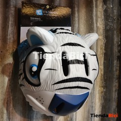 CASCO CRAZY SAFETY TIGRE BLANCO  + TIMBRE TIGRE BLANCO en internet