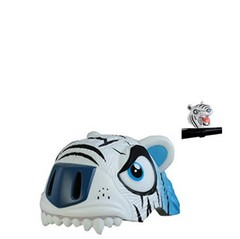CASCO CRAZY SAFETY TIGRE BLANCO  + TIMBRE TIGRE BLANCO