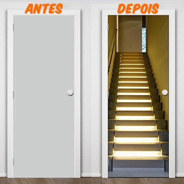 Artesanato Para Vender Passo A Passo ~ Adesivo de Porta Escadas