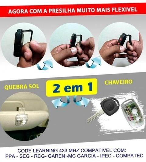 Controle Remoto 433 Para Portão Automático PPA, GAREN, SEG, RCG, MC GARCIA, PROTER