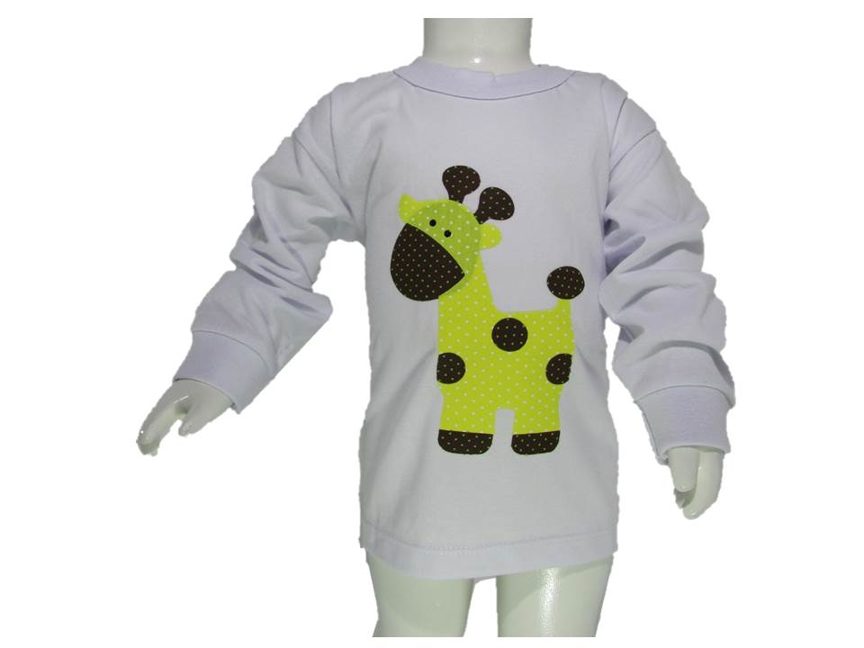 Camiseta Manga Longa - Girafa