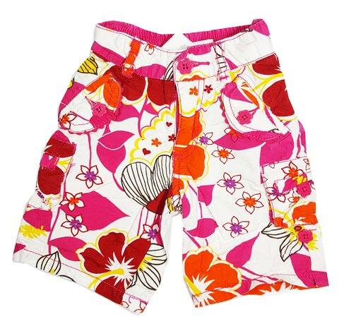 THE CHILDREN'S PLACE - bermuda floral - colorida - menina - 12 meses