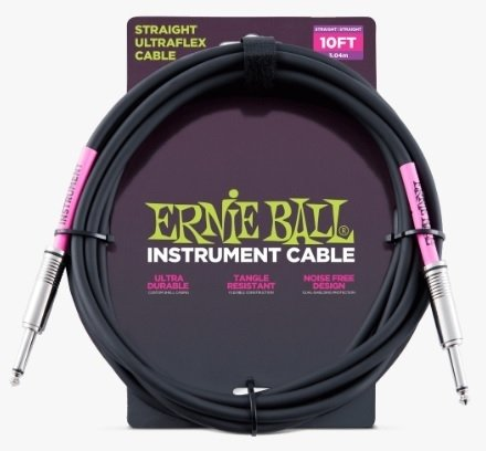 Cable  Ernie Ball Ultraflex 6048 Plug Rectos 3 Metros