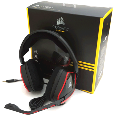 Headset Corsair Gaming Void Surround Dolby 7.1 Stereo Hibrido Com Adaptador USB Para PC PS4 XOne CA-9011144-NA