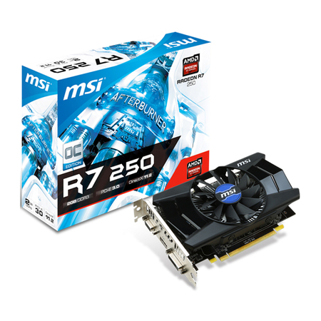Placa de Video MSI AMD Radeon R7 250 2GB DDR3 128-Bits PCI-Express 3.0 HDCP Ready CrossFire X Support Video Card R7 250 2GD3 OC