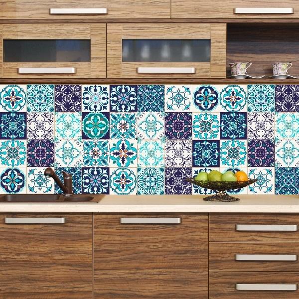 Aparador Kd Moveis ~ Adesivo Azulejo Moderno