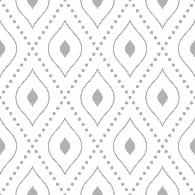 97ac74b2c Papel de Parede Adesivo Geométrico Cinza e Branco