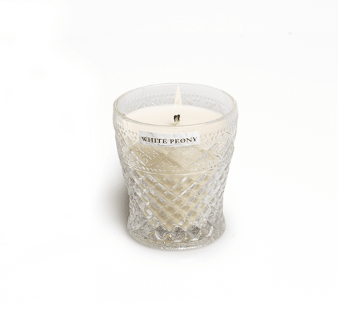 Fancy Candle White Peony