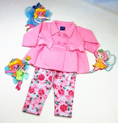 3 x de sem juros Visualizar Conjunto Infantil Feminino com Blusa de Moletom e Fuso.