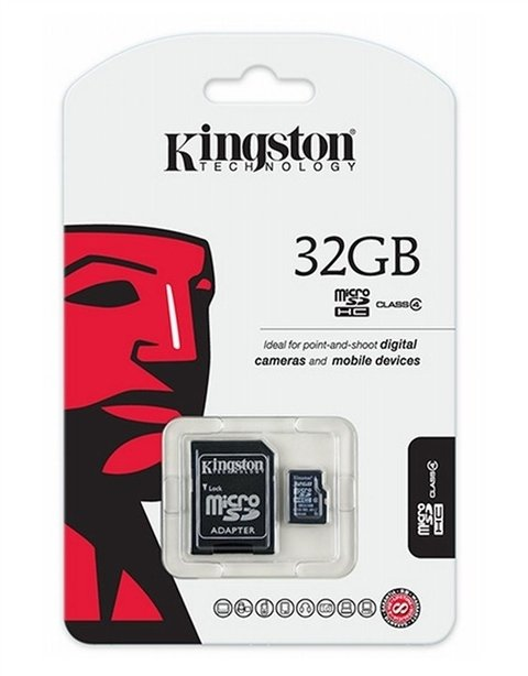 Memoria Micro SD Kingston - 32GB ( Clase 4 )