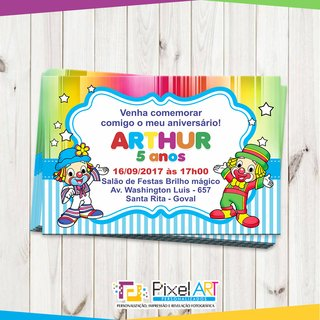Convite Personalizado Patati Patata Pixel Art